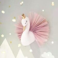 3D Gold Crown Swan Wall Hanging Animal Head Doll Stuffed Toy Wall Art Decoration