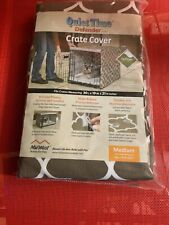 "Midwest Quiet Time Defender Series Stylish Brown Crate Cover for Dogs, 30"" L"