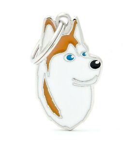 Husky Dog ID Tag (13) - Engraved FREE - Personalised - Charm - Keyring