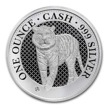 """2019 St. Helena 1 oz Silver £1 Cash India Wildlife: The Tiger """"1st in Series"""""""