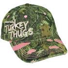 Mossy Oak Turkey Thugs Women Ladies Camouflage Distressed Garment Wash Hat Cap