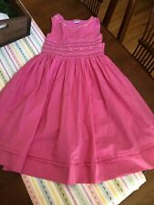 EUC-CINDY'S Dress  Pink Smocked & Delicately Embroidered Flowers Girls Sz.6
