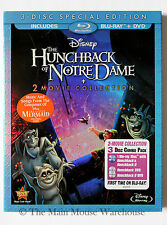 Disney The Hunchback of Notre Dame I & II 2 Movie Blu-ray DVD Pack No Slipcover