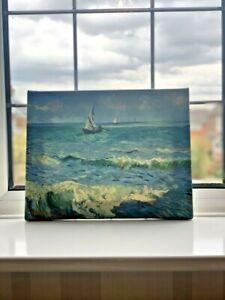 "Seascape near Les Saintes Maries De La Mer by Vincent Van Gogh-Canvas- 20"" x 24"""