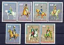 Chevaux Guinée équatoriale (32) série complète de 7 timbres oblitérés