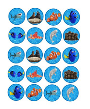 20 x Large Finding Nemo Edible Cupcake Toppers Birthday Party Cake Decoration