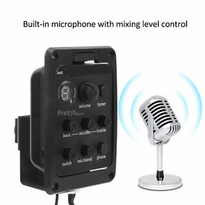 Pickup with Microphone Mixing  Dual Mode Guitar Preamp Tuner Piezo for Guitar