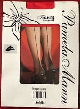 Pamela Mann Jive Seamed Tights Pantyhose Red one size