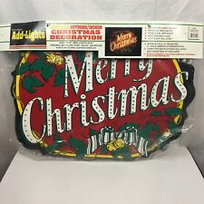 """Vintage 1997 Christmas Add Just Add Lights Sign, New, Indoor Outdoor, 28""""x22"""""""