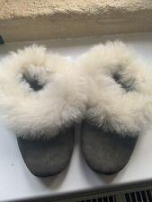 Toast Shearling Sheepskin 39 6Slippers Worn Twice Grey Stunning