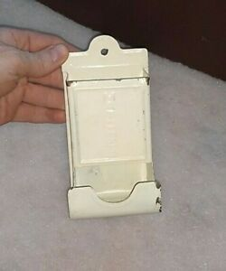 Vintage Tin Metal Wall Mount Match Box Holder