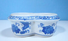 Chinese blue & white porcelain flower bonsai pot hand painted special shape 5 c