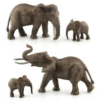 SIMULATION ELEPHANT WILD ANIMAL FIGURINE KIDS EDUCATIONAL TOY TABLE DECORATION