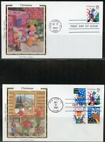 UNITED STATES COLORANO  CHRISTMAS 1993  SET OF FIVE  FIRST DAY COVERS