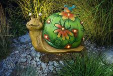 Decorative Solar Statue Garden Figurine Outdoor Lights Patio Decor Snail LED New