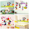 Mickey Minnie Mouse kid Nursery Room Home Decor Wall Stickers Cartoon Wall Decal