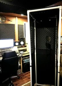 """MICBOOTH-911 / Portable ISOLATION Vocal BOOTH W/ Light 78"""" High"""