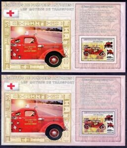 Antique Fire Brigade, Red Cross, Ford, Transport, Congo 2006 MNH Perf+Imperf