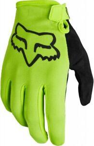 Fox Ranger Gloves Flo Yellow FA21 - Full Finger Mountain Bike MTB Trail Enduro