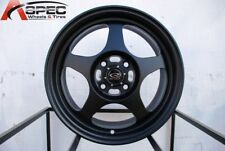 15x6.5 Rota SLIPSTREAM 4x100 +40 Flat Black Wheel (1)