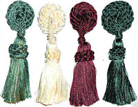 STUNNING MAGNETIC FLOWER WITH TASSEL, VARIOUS COLS X4, CURTAINS/LAMPS ART 12.897