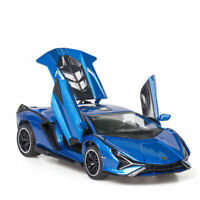 1:32 Lamborghini Sian FKP 37 Model Car Diecast Toy Vehicle Gift Collection Blue
