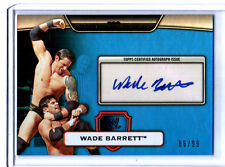 WWE Wade Barrett 2010 Topps Platinum BLUE Authentic Autograph Card SN 86 of 99