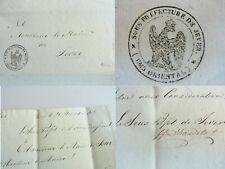 Frz. Brief JEVER 1811: Sous-Préfet d'HOUDETOT an Maire, über Polizei & Militär