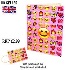 2x Pink Emoji A5 Birthday Blank Greeting Card Daughter Sister Mum Gift Tag