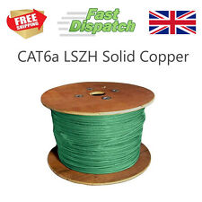 CAT6a UTP Low Smoke Network ethernet lan cable oxygen free copper 100m