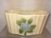 Vtg Mid-Century Pottery Art Forget-me-not Flower Window Herb Garden Planter Vase