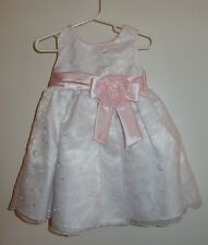 Girls 3T Youngland Dress Special Occasion Pale Pink Embroidered