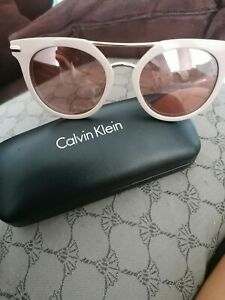 CALVIN KLEIN SUNGLASSES CK1232S beige/rot Neu/New UV: 400