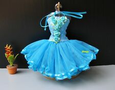 Blue Ballet Tutu Outfit Handmade Costumes for Barbie or Dolls Dresses Clothing