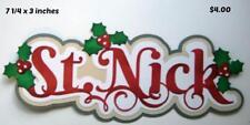 St. Nick Title santa Christmas scrapbook premade paper piecing by Rhonda
