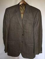 JOSEPH ABBOUD Men's Sport Coat 40R 2 Button Silk/Wool Brown Jacket Blazer