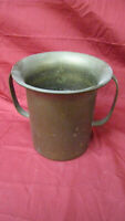 Vintage Brass Champagne Wine Cooler Ice Bucket with Handles