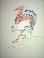[Caricatura] Georges Bastia - Cecile Sorel , El Pavo - Litografía Firmada