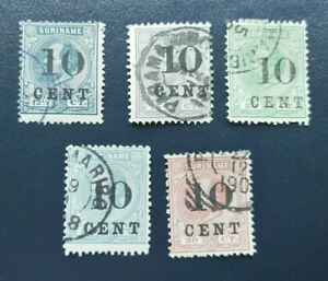 CLASSIC LOT SURCHARGES VF USED NEDERLAND NETHERLANDS SURINAME B976.10 $0.99