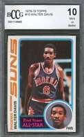 Walter Davis Rookie Card 1978-79 Topps #10 Phoenix Suns BGS BCCG 10