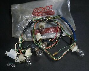 Genuine TOYOTA CROWN 2600 SPECIAL MS65 Tail Light Socket Wiring Harness NOS JP