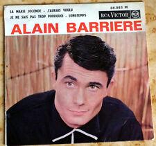 Disque 45 T. Alain BARRIERE 86.023 - la Marie Joconde - 1963