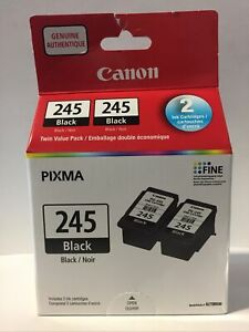 Genuine Canon Black PG-245 Pack Of 2 ink Cartridges New in Box