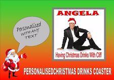 Cliff Richard Personalised Drinks Coaster Perfect Secret Santa Gift Christmas