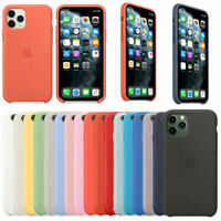 Original Silicona Genuina Case Funda Para iPhone 6 7 8 Plus X XR XS 11 Pro Max