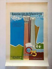 Ed Vera Cortez, Teacher's Association Serigraph '86 Cartel, Puerto Rico Art