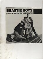 "BEASTIE BOYS Fight For Your Right To Party AUSSIE PROMO 7"" w/PS HIP HOP"