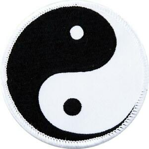 JOB LOT 38 x Round Embroidered Yin Yang Badge Patch Martial Arts Kung Fu
