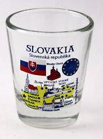 SLOVAKIA EU SERIES LANDMARKS AND ICONS COLLAGE SHOT GLASS SHOTGLASS