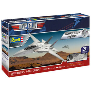 Revell 04966 Top Gun Maverick's F-14 Tomcat Easy-Click Plastic Model Kit 1:72